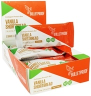 Bulletproof - Gluten-Free Collagen Protein Bars Vanilla Shortbread - 12 Bars