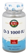 Kal - Natural Vitamin D-3 1000 IU - 200 Softgels