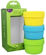 Green Sprouts - Sprout Ware Snack Cups Aqua Assortment - 3 Pack