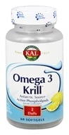 Kal - Omega 3 Krill Lemon - 60 Softgels