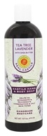 Sunfeather - Castile Hand & Body Soap Tea Tree Lavender with Shea Butter - 16 oz.