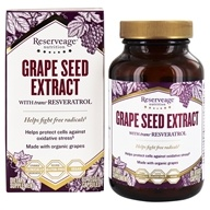 ReserveAge Organics - Grape Seed Extract with Resveratrol 325 mg. - 60 Vegetarian Capsules