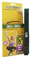 GoFit - Super Band 30-50 lbs. Green - 41 in.