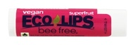 Eco Lips - Bee Free Vegan Lip Balm Superfruit - 0.15 oz.