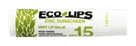 Eco Lips - Zinc Sunscreen Lip Balm SPF 15 Mint - 0.15 oz.