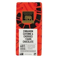 Endangered Species - Dark Chocolate Bar 60% with Cinnamon, Cayenne and Cherries - 3 oz.