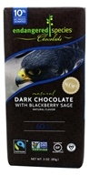 Endangered Species - Dark Chocolate Bar 60% Cocoa Blackberry Sage - 3 oz.