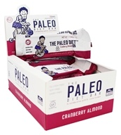 The Paleo Diet Bar - Paleo Protein Bar Cranberry Almond - 12 Bars