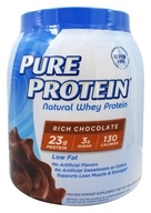 Pure Protein - Natural Whey Protein Rich Chocolate - 1.6 lb.