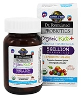 생활의 정원 - Formulated Probiotics Organic Kids+ 10억 5 박사 - 30 Chewables