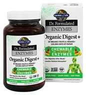 Dr. Formulated Enzymes Organic Digest+ Tropical Fruit - 90 Chewables by Garden of Life