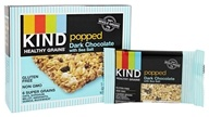 Kind Bar - Healthy Grains Bars Popped Dark Chocolate with Sea Salt - 5 Bars