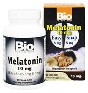 Bio Nutrition - Melatonin 10 mg. - 60 Easy Snap Tablets