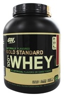 Optimum Nutrition - 100% Whey Gold Standard Natural Protein Strawberry - 4.8 lbs.
