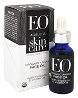 EO Products - Ageless Skin Care Organic Argan Face Oil with Avocado & Vitamin E - 1 oz.