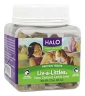 Halo Purely for Pets - Liv-a-Littles Protein Treats New Zealand Lamb Liver - 2.3 oz.