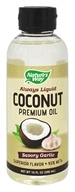 Nature's Way - Always Liquid Premium Coconut Oil Savory Garlic - 10 oz.