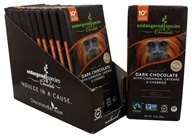 Endangered Species - Dark Chocolate Bars Box 60% Cocoa Cinnamon, Cayenne & Cherries - 12 Bars