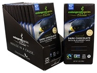 Endangered Species - Dark Chocolate Bars Box 60% Cocoa Blackberry Sage - 12 Bars