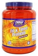 NOW Foods - Sports Fit & Tone Protein Mocha - 1.8 lbs.