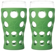 Lifefactory - Large Beverage Glasses Set of 2 Grass Green - 20 oz.