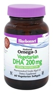 Bluebonnet Nutrition - Natural Omega-3 Vegetarian DHA 200 mg. - 60 Vegetarian Softgels