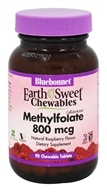 Bluebonnet Nutrition - EarthSweet Chewables Methylfolate 800 mcg. - 90 Chewable Tablets