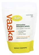 Vaska Home - Dishwasher Detergent Tablets Lemon Rosemary - 20 Tablets