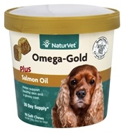 NaturVet - Omega-Gold Plus Salmon Oil - 90 Soft Chews