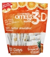 Coromega - Omega-3+D Squeeze Tropical Orange Smoothie - 120 Packet(s)