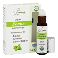 Wally's Natural Products - Organic Focus Aromatherapy Roll-On Essential Oils - 0.33 oz.