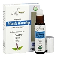 Wally's Natural Products - Organic Muscle Warming Aromatherapy Roll-On Essential Oils - 0.33 oz.