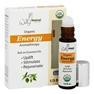 Wally's Natural Products - Organic Energy Aromatherapy Roll-On Essential Oils - 0.33 oz.