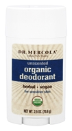 Dr. Mercola Premium Products - Organic Deodorant for Sensitive Skin Unscented - 2.5 oz.