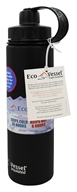 EcoVessel - Boulder Insulated Water Bottle Black Shadow - 24 oz.