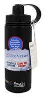 EcoVessel - Boulder Insulated Water Bottle Black Shadow - 20 oz.