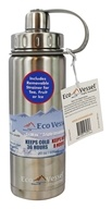 EcoVessel - Boulder Insulated Water Bottle Silver Express - 20 oz.