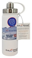 Eco Vessel - Boulder Insulated Water Bottle Whiteout - 20 oz.