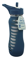 EcoVessel - Surf Recycled Glass Straw Top Water Bottle Storm Blue - 22 oz.