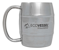 Eco Vessel - Double Barrel Insulated Stainless Steel Mug Silver Express - 8 oz.