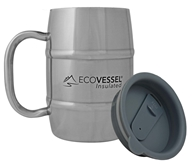 EcoVessel - Double Barrel Insulated Stainless Steel Coffee and Beer Mug with Lid - 17 oz.