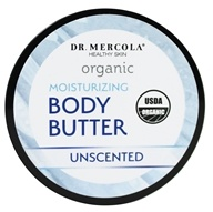 Dr. Mercola Premium Products - Organic Body Butter Unscented - 4 oz.