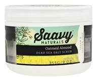 Saavy Naturals - Dead Sea Salt Scrub Oatmeal Almond - 9 oz.
