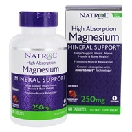 Natrol - High Absorption Magnesium Cranberry - 60 Chewable Tablets