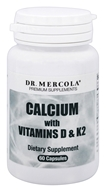 Dr. Mercola Premium Products - Calcium with Vitamins D & K2 175 mg. - 60 Capsules