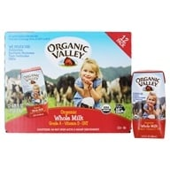 Organic Valley - Organic Whole Milk - 12 x 6.75 oz. Cartons