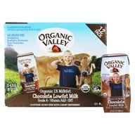 Organic Valley - Organic 1% Lowfat Milk - 12 x 6.75 oz. Cartons Chocolate
