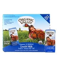 Organic Valley - Organic 1% Lowfat Milk Original - 12 x 6.75 oz. Cartons Original