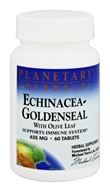 Planetary Herbals - Echinacea-Goldenseal with Olive Leaf 635 mg. - 60 Tablets