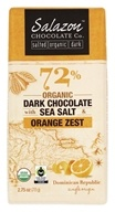 Salazon - 72% Organic Dark Chocolate with Sea Salt & Orange Zest - 2.75 oz.